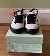 New Authentic Off-white Arrow White Suede Sneakers