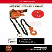 New Heavy Duty 3/4 Ton Lever Block Chain Hoist Come Along Puller Pulley 5ft