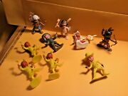 """Vintage Cowboys And Indians Kids 2"""" Action Figures - Made In Hong Kong - Used"""