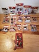Dept 56 Lemax  Christmas Village Figurines  Lot Of 16 Packages