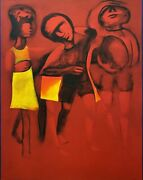 Charles Blackman Children Playing Signed Limited Edition Print 100cm X 80cm