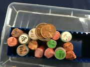 1970-2006-pd Lincoln Cents Lot Of 16 Assorted Brilliant Uncirculated Rolls E8110