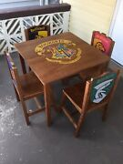 Rare Harry Potter P.j. Kids Dormitory Childrens Table And Set Of 4 Chairs Hogwarts