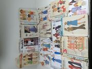 Vintage Lot Womenand039s 70s 80s Simplicity Mccalls Butterick Sewing Patterns