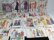 Lot Of Kids Simplicity Butternick Mccalls Vintage Sewing Patterns