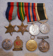 D482. Wwi And Wwii New Zealand War Medals Plus Extras
