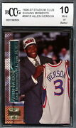 1996-97 Stadium Club Shining Moments Allen Iverson Rookie Card Graded Bccg 10
