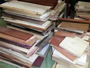 24 Long Box Of Thin Unfinished Craft Wood. Many Species Scroll Saw Lumber