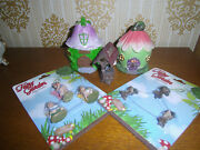 Miniature Fairy Garden 2 Houses Well 3 Fairies Table With 2 Chairs Figurines