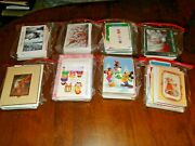 Lot Of 400 Vintage Christmas Holiday Note Cards Get Well Love Animals Greeting