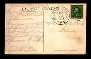 1913 Ypsil And Hillsdale Rpo Card / Very Crisp Cancel - L26159
