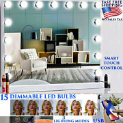 Best Large Makeup Mirror 15 Led Hollywood Dimmable Usb Charger Bluetooth Speaker