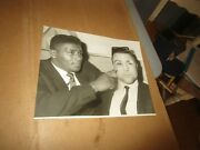 Rare 1965 Floyd Patterson Boxing Wire Photo Signed By George Chuvalo On Back