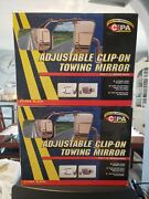 """Cipa 11952 Universal Clip-on Towing Mirror 4.75"""" X 7.5"""" For Cars-trucks Set Of 2"""