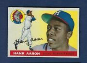 1955 Topps No. 47 Hank Aaron Well Centered/no Creases
