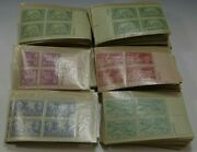 319 Us Stamps Plate Blocks Of 4 3 Cent Stamp 1940's 1276 Stamps