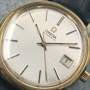 Omega 166.0202 Automatic Cal.1012 Date Silver Dial Gp 35mm Authentic Vintage