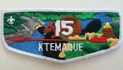 Ktemaque 15 Order Of The Arrow Lodge Flap Bsa Old 1970s Cloth Back