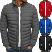 Packable Light Mens Down Puffer Jacket Bubble Winter Coat Quilted Padded