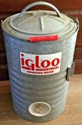 Vintage Igloo 3 Gallon Industrial Perm-a-lined Metal Drinking Water Cooler