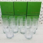 Kate Spade For Lenox New York Percival Place Highball Glass Set Of 11 With Boxes