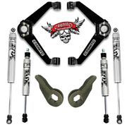 Cognito Boxed Bj Control Arms Level Kit 01-10 Gm Trucks - Stage 3 W/ Fox Shocks
