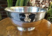 And Co. Sterling Silver Horse Racing Large Trophy Bowl Del Mar 1983