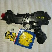 Vintage Edison Giocattoli Isc Space Gun Zx 271 + Harmless Yellow Projectiles Moc