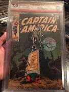 Captain America 113 Cbcs 7.0 Ss White Like Cgc Signed By Jim Steranko Classic