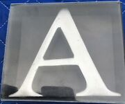 All-metal Solid Initial Letter A Ornament-paperweight-monogram, Cast Aluminum.