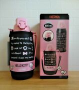Sanrio Hello Kitty Thermos Water Bottle W/cover 800ml 23.5cm From Japan