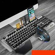 2.4g Wireless Keyboard Mouse Set Rechargeable Rainbow Led For Laptop Pc