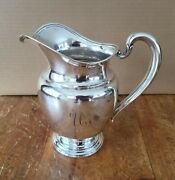 Vintage International Silver Company Sterling Water Pitcher 4 1/2 Pints 9 In