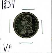 1834 25c Capped Bust Quarter Dollar In Vf Condition 03501