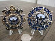 Lot Of 2 Usn Chiefs Goat Locker Ask The Chief Cpo Compass Challenge Coin