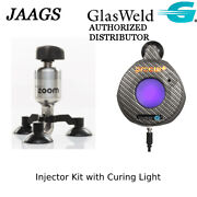 Glasweld Windshield Repair Kit Injector And Bridge Windshield Resin Curing Lamp