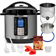 Deco Chef 8qt Pressure Cooker / Slow Cooker With 10-in-1 Multi-mode Cooking