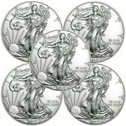 Lot Of 5 - 2018 1 Oz .999 American Silver Eagle 1 Coins Bu - In Stock