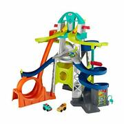 Little People Launch And Loop Raceway Vehicle Playset For Toddlers And