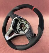 Full Reshaped Steering Wheel To Amg Style W176 A Cla Cls W218 Alcantara