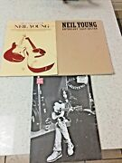 Neil Young- 3 Song Books - Sheet Music- See All Pics- Used