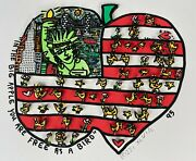 James Rizzi Original 3d In The Big Apple You Are Free As A Bird Handsigniert