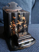 Meiji Period Japanese Lacquer Box For Cigars - Rare Item