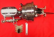 1954-1956 Ford Chrome Power Brake Booster And Master Cylinder With Pro Valve 7