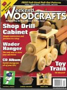 Weekend Woodcrafts October 2002 Magazine Pull Patterns Toy Train Drill Cabinet🚂