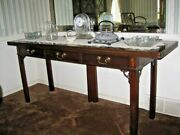 Hickory Chair Co. Chippendale Solid Mahogany 72 Flip Top Sideboard And Buffet