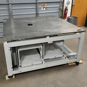 65x 65x 33 Heavy Duty Table/machine Base 3/4 Thick Steel Top With Drawers