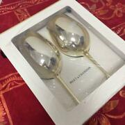 Moet And Chandon Limited Pair Champagne Glass Gold New With Box