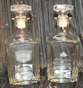 Cutty Sark Scots Whisky Clear Glass Bottle With Stopper Empty Millennium Bottles