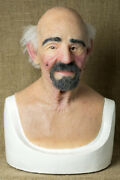 Silicone Mask Rob Halloween Masks Quality Pro Realistic, Old Man Hand Made